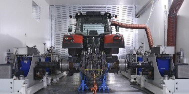 tractor witin cell for testing