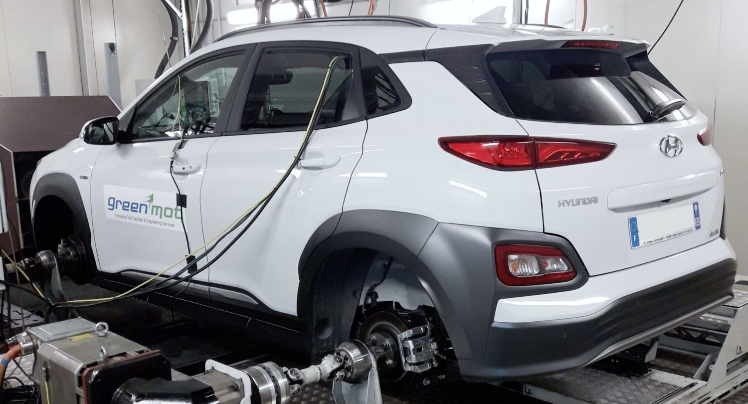 test in climatic cell on KONA EV