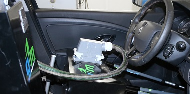 robot driver in vehicle