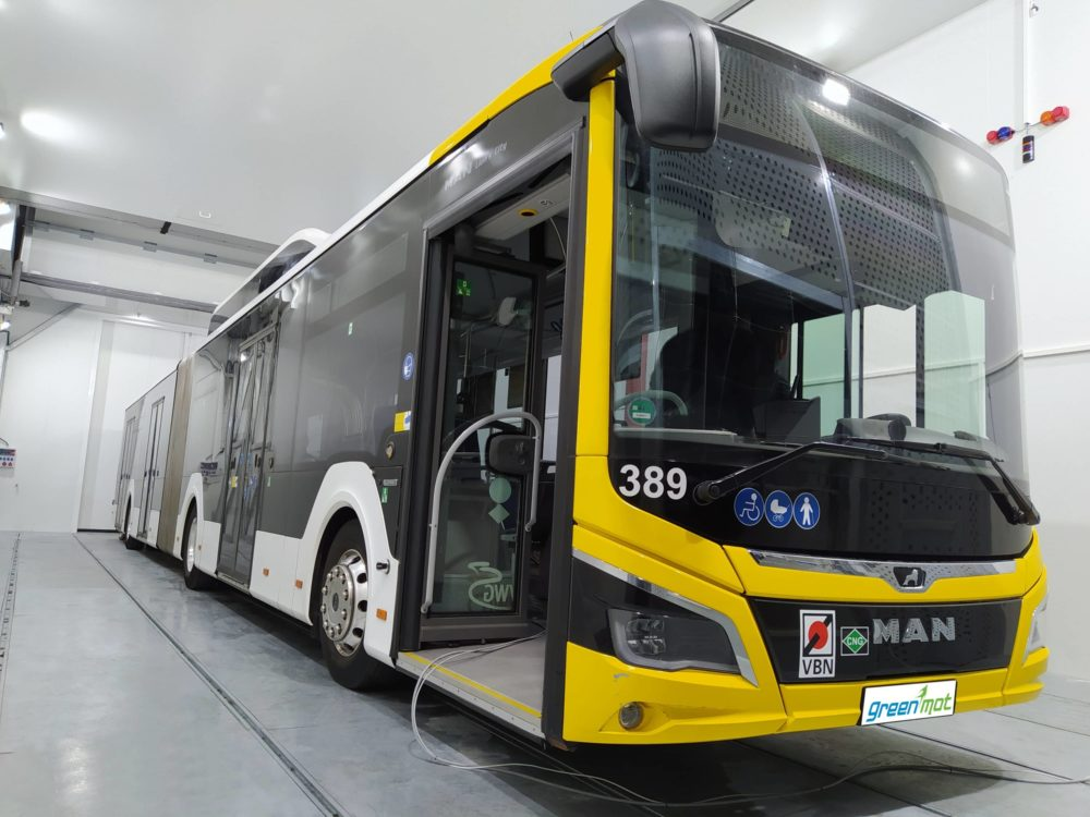 MAN bus 18m high power test cell